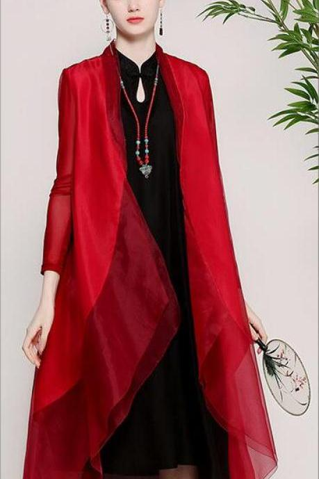 Spring and summer 2018 new style, vintage original women's wear, Chinese style code, silk Eugen yarn, thin shawl jacket