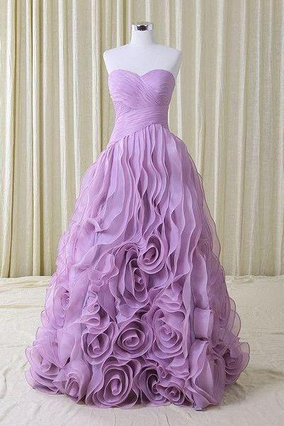 Modest Quinceanera Dress,Purple Sweetheart Ball Gown,Fashion Prom Dress ,Evening Dress,Custom Made,Party Gown