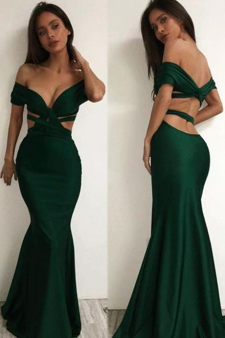 green prom dresses,off the shoulder prom dress,sexy prom dresses,Elegant prom dress,evening dress,custom made