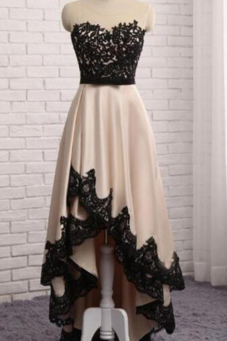 Charming Prom Dress, High Low Prom Dress,Sleeveless Evening Dress