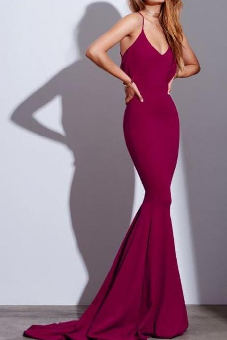 Red Prom Dresses, Woman Dresses, Long Evening Dress, Charming Prom Dresses