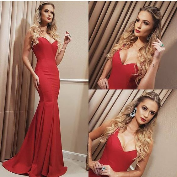 Prom Dresses,Sexy Prom Dress,Red Satin Prom Dress,Mermaid Prom Dresses,Prom Dresses ,Custom Made,Party Gown,Cheap Evening dress,Custom Made,Party Gown